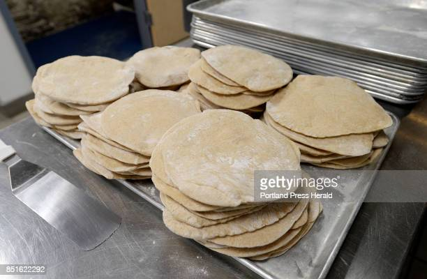 Falafel Mafia's pitas fresh out of the oven at Fork Food Lab in Portland Wednesday September 13 2017