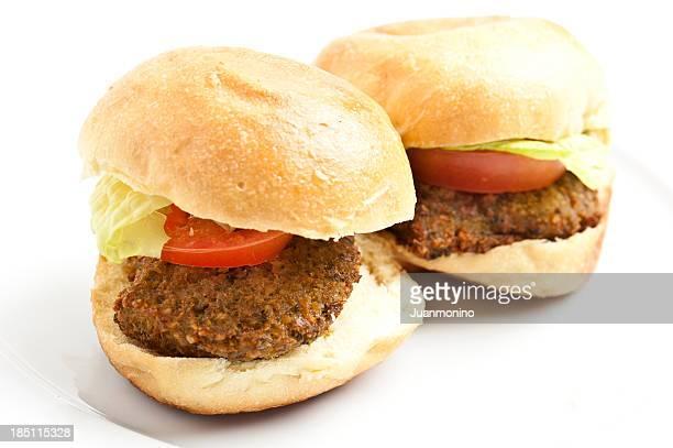 Falafel mini burgers
