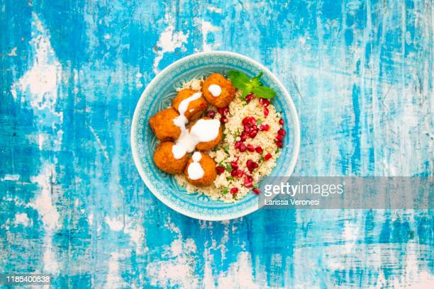 falafel with couscous - couscous stock pictures, royalty-free photos & images
