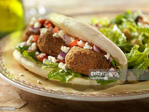 Falafel Wrap with Ceaser Salad