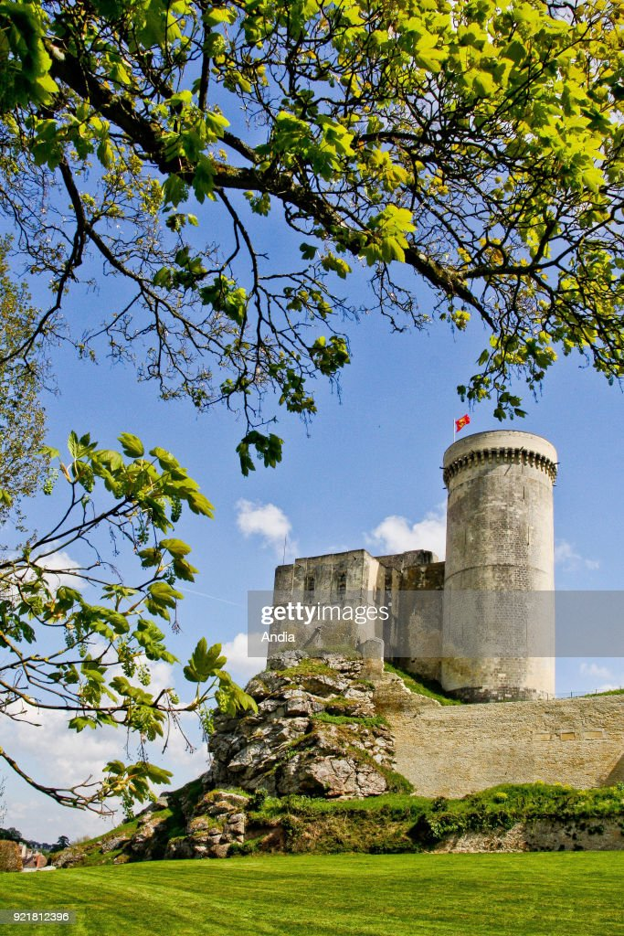 Chateau de Falaise, or Castle of William the Conqueror, registered as a National Historic Landmark (French 'Monument Historique').