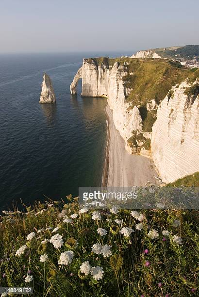 Falaise d'Aval, Aiguille rock formation and arch.