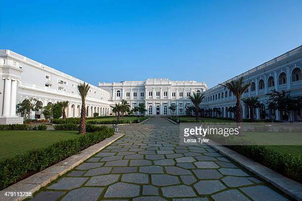 PALACE HYDERABAD TELANGANA INDIA Falaknuma Palace in Hyderabad a rambling scorpion shaped mansion meaning mirror of the sky and fantasy of 19th...