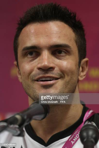 Falcao of Brazil speaks to the media during a press conference for the FIFA Futsal World Cup Thailand 2012 at Korat Chatchai Hall on October 31 2012...
