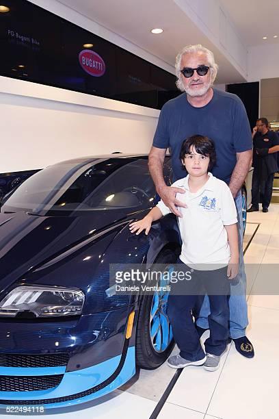Falco Nathan Briatore and Flavio Briatore attend The Blue of Monte Carlo by Bugatti on April 19 2016 in MonteCarlo Monaco