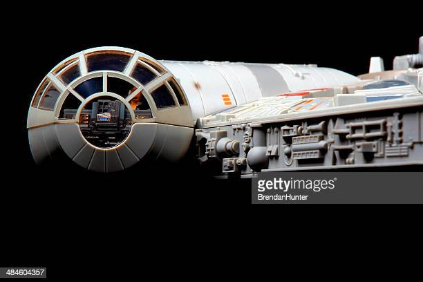 falcon in space - han solo stock photos and pictures