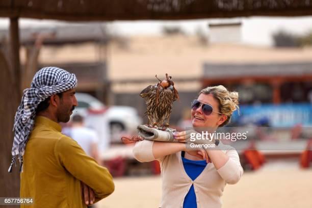 Falconer in the Liwa desert