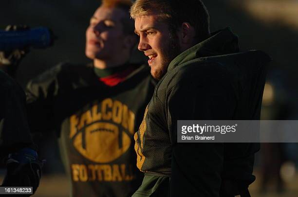 falconprep27_bb_9 Linebacker Vahn Plambeck during practice with the Falcon High football team Tuesday Nov 27 Brian Brainerd/The Denver Post