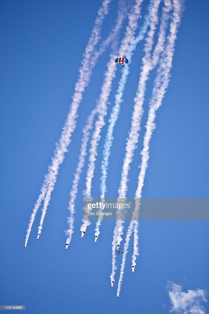 RAF Falcons Parachute Display, UK : News Photo