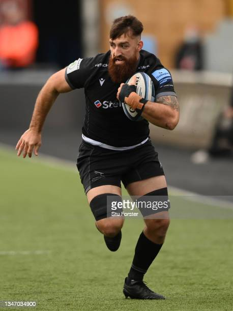 Falcons player Gary Graham on the charge during the Gallagher Premiership Rugby match between Newcastle Falcons and Bristol Bears at Kingston Park on...