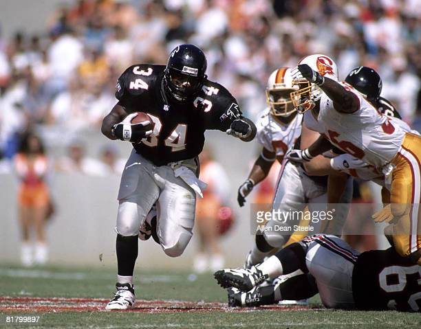 Falcons running back Craig Hayward escapes Buccaneers defense in a 2421 win over Tampa Bay on October 22 1995 at Houlihan's Stadium in Tampa Florida
