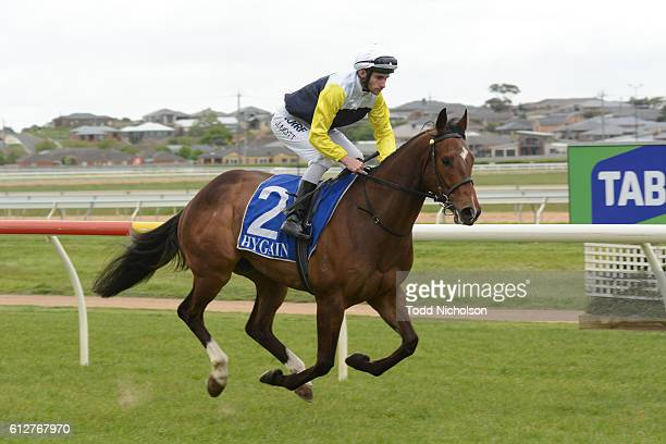 Falcool ridden by Jamie Mott goes pout for tab.com.au SV Three-Years-Old BM64 Handicap at Warrnambool Racecourse on September 25, 2016 in...