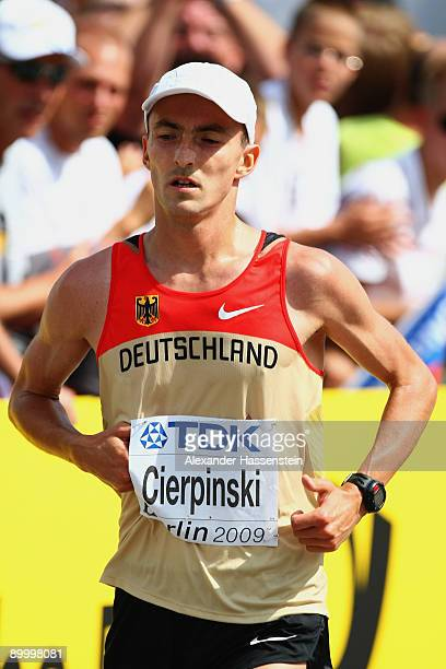 Falk Cierpinski of Germany competes in the men's Marathon Final during day eight of the 12th IAAF World Athletics on August 22 2009 in Berlin Germany