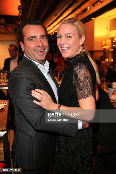 Falk Raudies and his wife Andrea Raudies during the Christmas Charity Dinner hosted by StefanMross AnnaCarinaWoitschack and Connections PR for the...