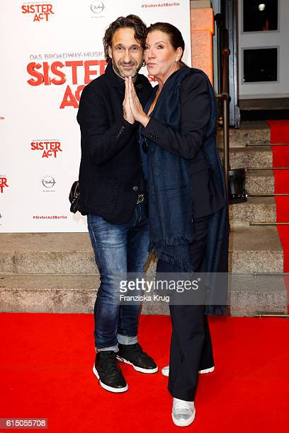 Falk Willy Wild and Katy Karrenbauer attend the 'Sister Act The Musical' premiere at Stage Theater on October 16 2016 in Berlin Germany