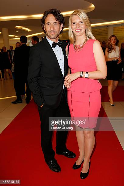 Falk Willy Wild and Lea Sophie Cramer attend the 9th Victress Awards Gala at andels Hotel Berlin on April 28 2014 in Berlin Germany