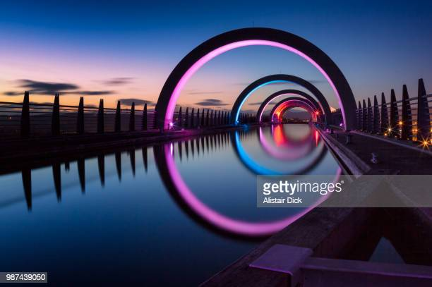 falkirk wheel - central stock pictures, royalty-free photos & images