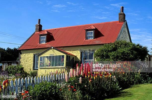 Falkland Islands Port Stanley Houses With Garden