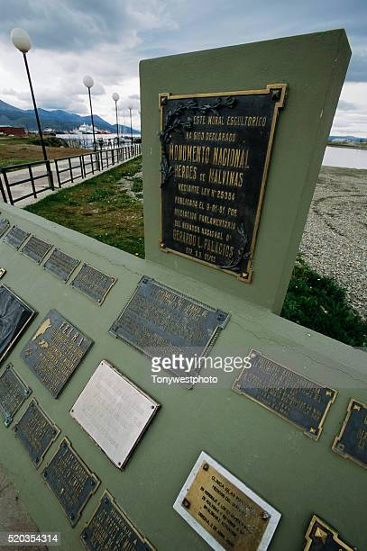 falklands war memorial - falklands war stock pictures, royalty-free photos & images