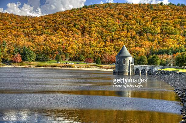 Fall Colors at Barkhamsted Reservoir, Saville Dam