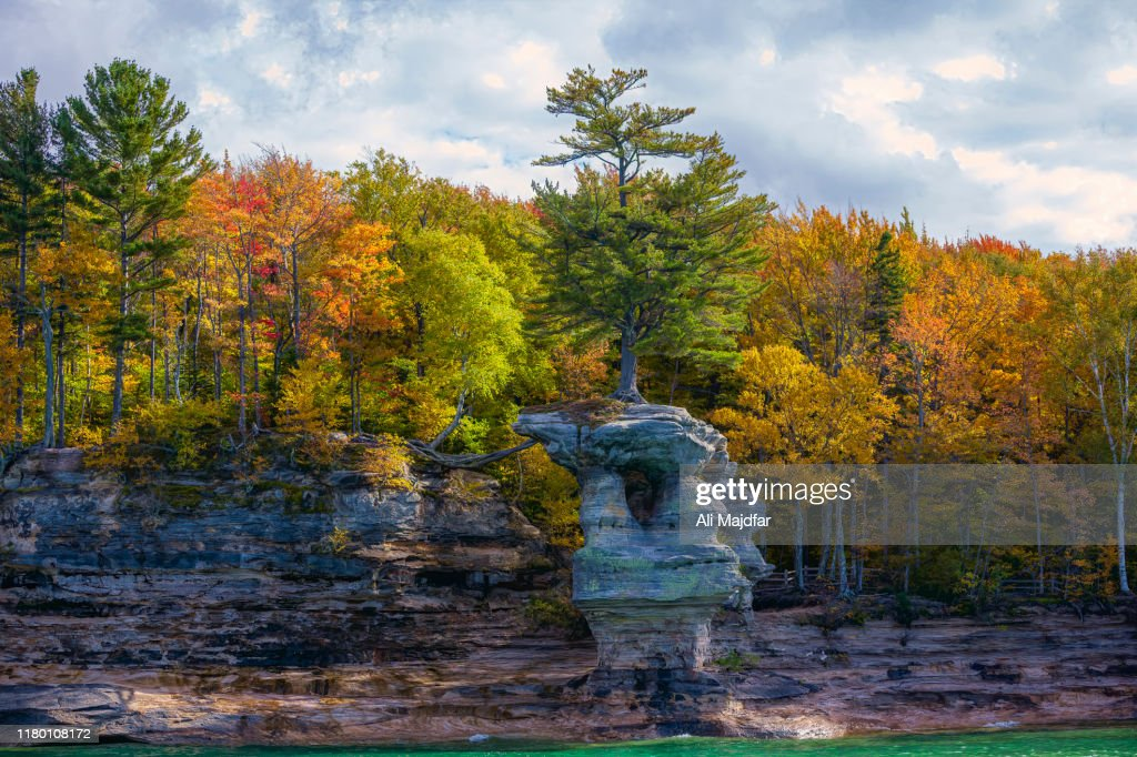 Fall Colors at Pictured Rocks : Stock Photo