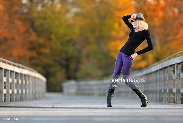 fall colors (xxxl) - tall blonde women stock photos and pictures