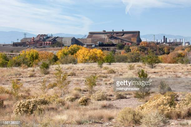 Fall colors with Pueblo's Colorado Fuel and Iron Steel Mill