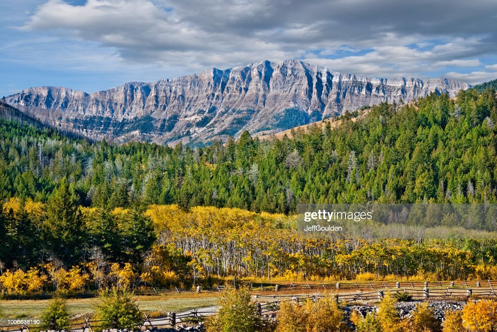Rocky Mountain Front Range in the Fall : Stock Photo