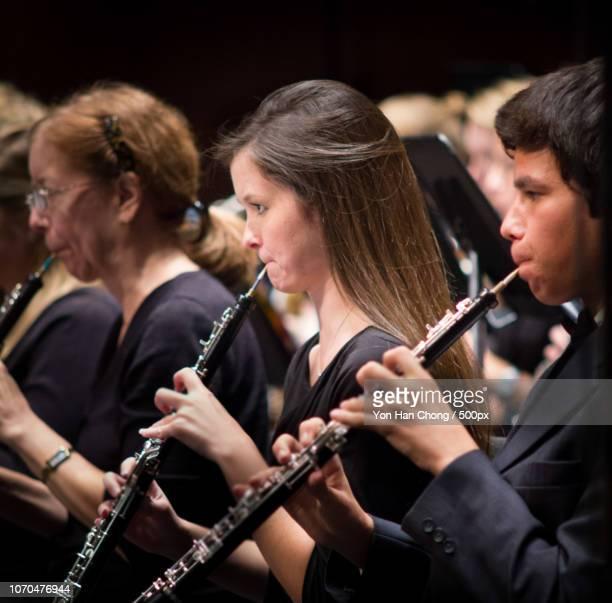 cys fall concert - oboe stock-fotos und bilder