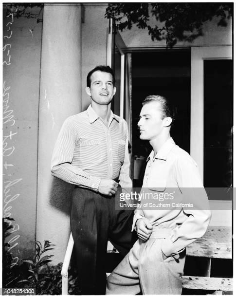 Fall fashion market week for men's wear at Ambassador Hotel 25 May 1952 Paul de FonvilleNorma NeighborsTim TaylorBill FroelichArt MooreSupplementary...