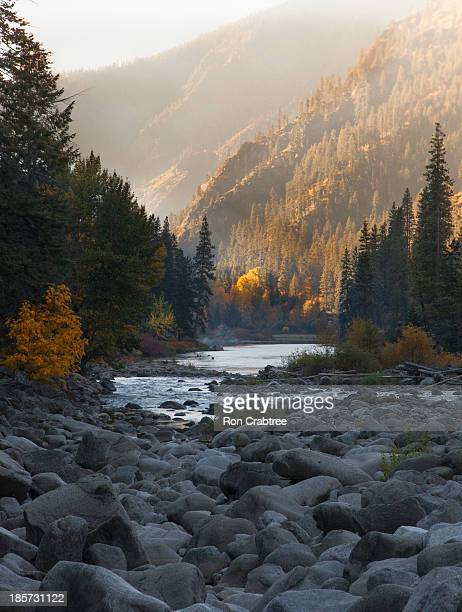 fall foilage, tumwater canyon - leavenworth washington stock photos and pictures
