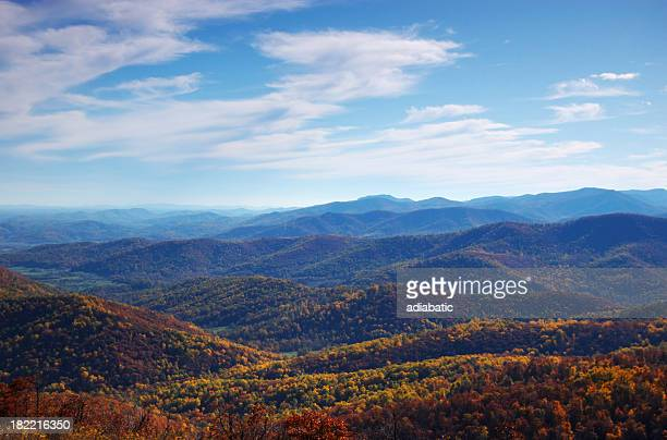 fall foliage - skyline drive virginia stock photos and pictures