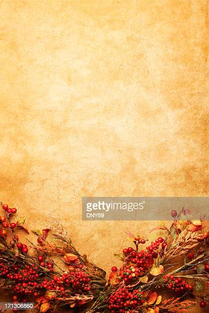 fall garland - thanksgiving background stock photos and pictures