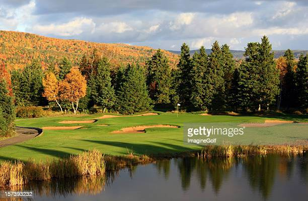 fall golf scenic in appalachia - flag of nova scotia stock pictures, royalty-free photos & images