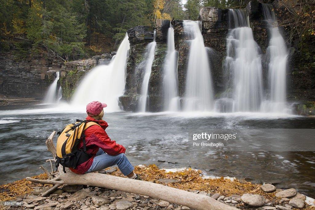 fall hiking : Stock Photo