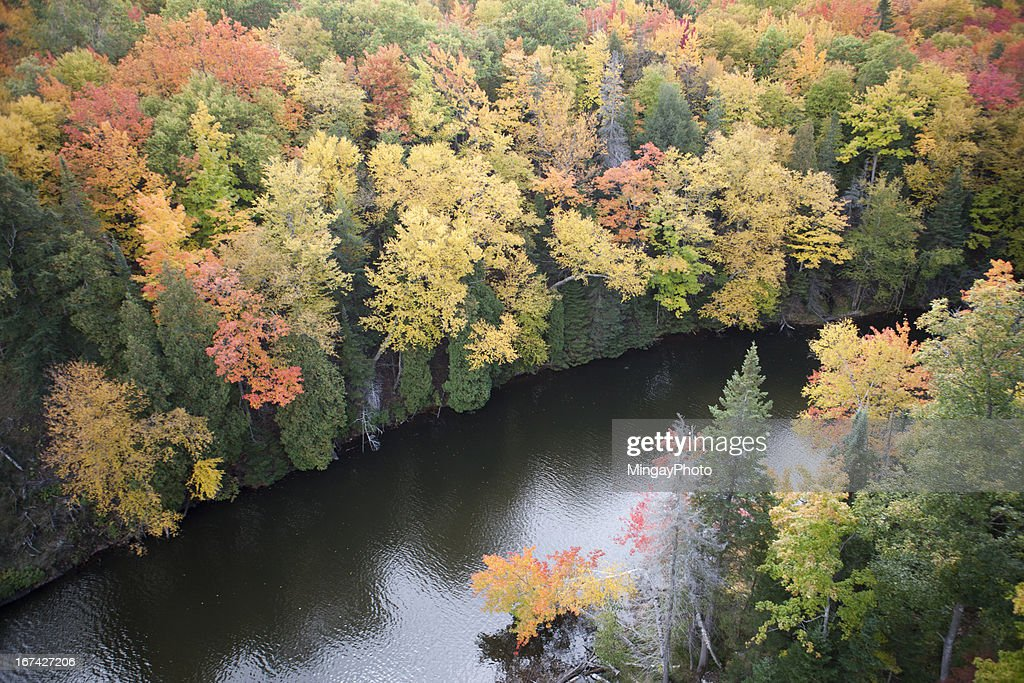 Fall in Michigan's Upper Peninsula : Stock Photo
