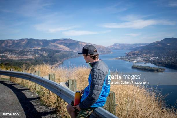 fall in oregon - hood river stock pictures, royalty-free photos & images