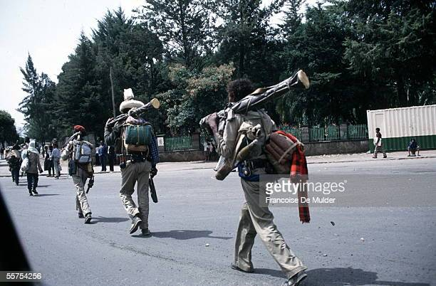 Fall of Addis Ababa Arrived fighters of the FDRPE Revolutionary democratic Forehead of the Ethiopian people On 1991 FDM25817