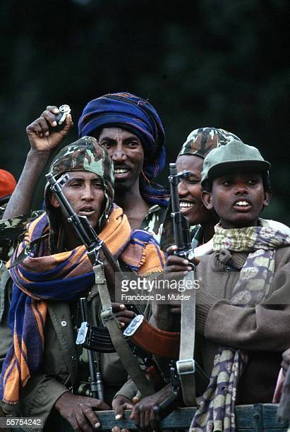 Fall of Addis Ababa Fighters of the FDRPE Revolutionary democratic Forehead of the Ethiopian people On 1991 FDM2575