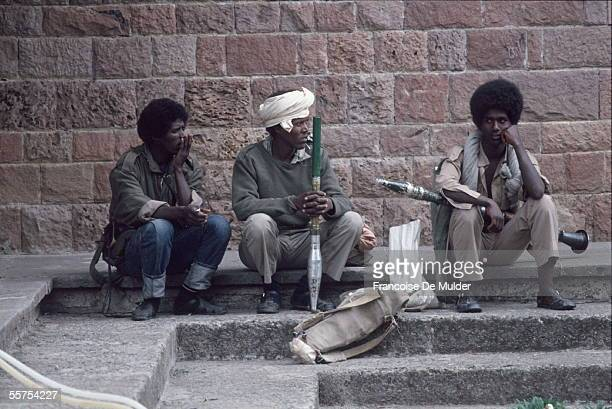 Fall of Addis Ababa Fighters of the FDRPE Revolutionary democratic Forehead of the Ethiopian people with ammunitions On 1991 FDM255 encore 7