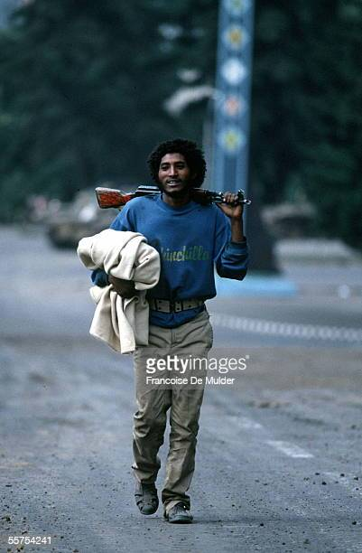 Fall of Addis Ababa Fighting of the FDRPE Revolutionary democratic Forehead of the Ethiopian people with a kalachnikov On 1991 FDM2573
