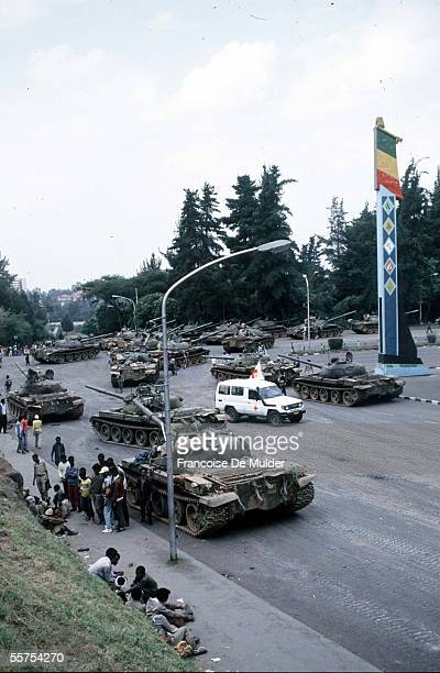 Fall of Addis Ababa Russian tanks of the FDRPE Revolutionary democratic Forehead of the Ethiopian people On 1991 FDM26619