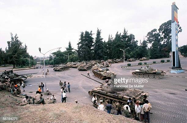 Fall of Addis Ababa Russian tanks of the FDRPE Revolutionary democratic Forehead of the Ethiopian people On 1991 FDM26620