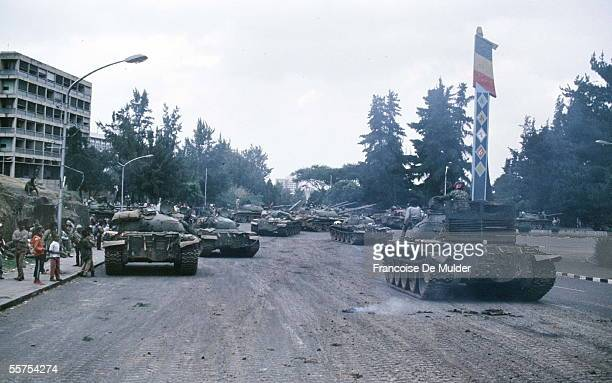 Fall of Addis Ababa Russian tanks of the FDRPE Revolutionary democratic Forehead of the Ethiopian people On 1991 FDM26710