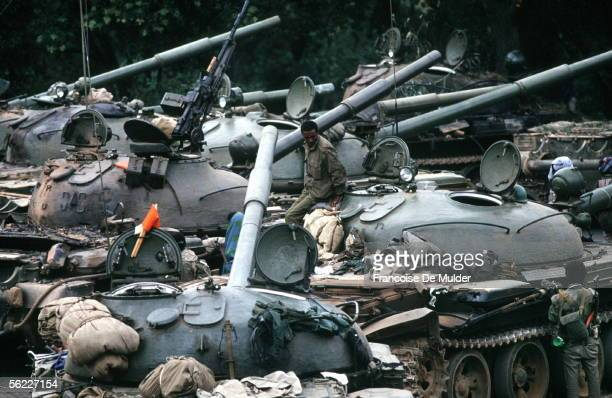 Fall of Addis Ababa Russian tanks T54 On 1991