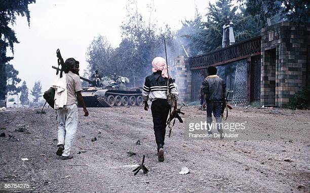 Fall of Addis Ababa Taken of the Palace of the Government Fighters of the FDRPE Revolutionary democratic Forehead of the Ethiopian people On 1991...