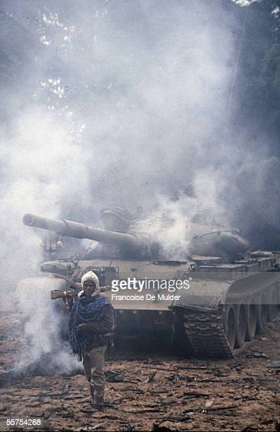 Fall of Addis Ababa Taken of the Palace of the Government Russian tank of the FDRPE Revolutionary democratic Forehead of the Ethiopian people On 1991...