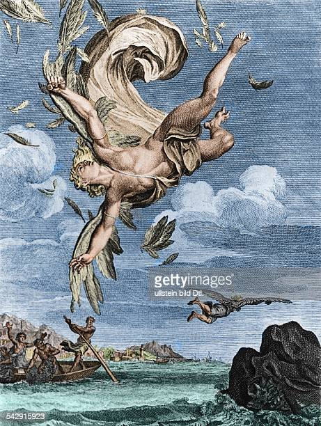 Fall of Icarus illustration France 1731