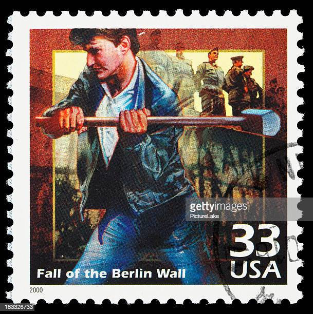 Fall of the Berlin Wall postage stamp