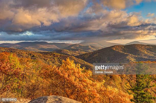 fall on skyline drive - skyline drive virginia stock photos and pictures